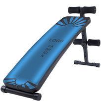 蓝色健身腹肌板图案