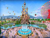 城堡广场鸟瞰图