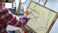 水彩草稿描绘视频素材