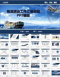 物流运输动态PPT模板