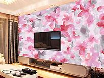 优雅自然花卉背景墙