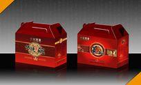 蒸碗包装盒设计模版