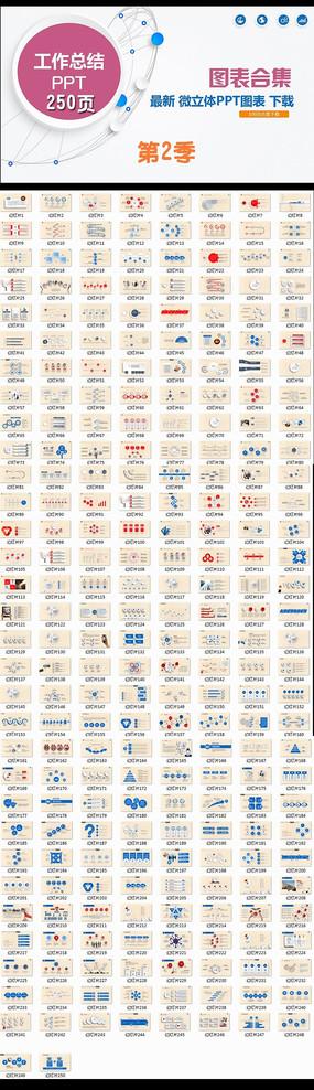 工作总结PPT图表合集新年计划动态模板图片下载