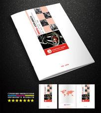 红色机械画册封面