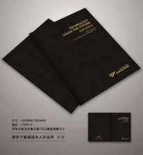 经典黑色封面背景设计
