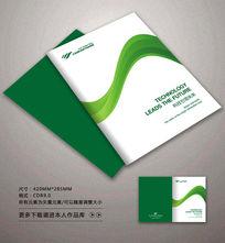 时尚绿色条封面背景设计