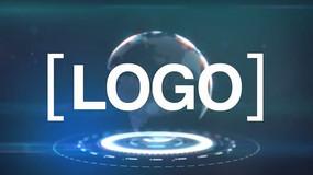 地球logo标志展示ae模板