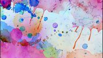 旋转的泼墨七彩水彩风格视频