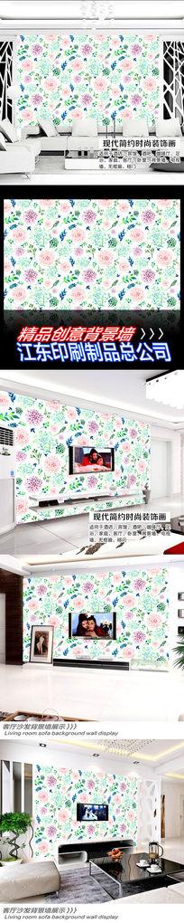 可爱矢量花纹背景墙