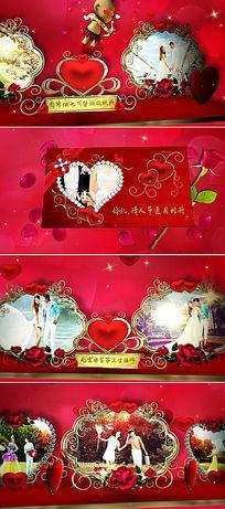 浪漫唯美情人节婚礼通用相册片头ae模板
