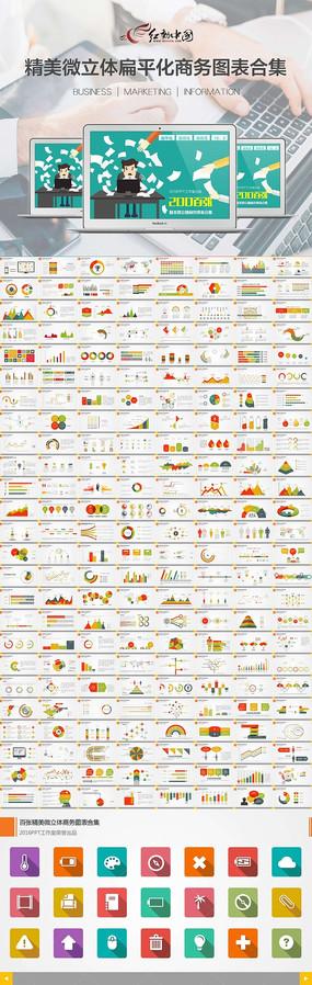 扁平化多彩商务PPT图表
