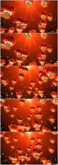 喜庆灯笼福字春节舞台LED视频素材