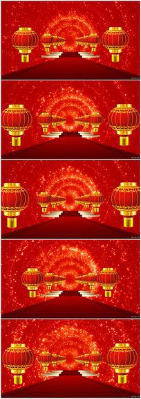 喜庆灯笼如意粒子晚会舞台LED循环视频