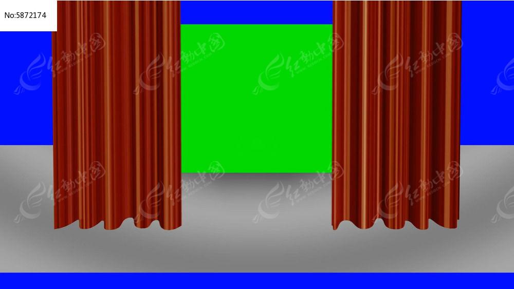 红幕拉开视频素材图片