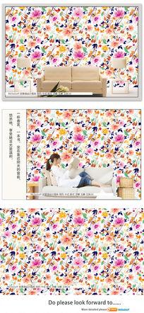 牡丹花纹背景墙