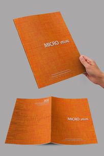 橙色创意凌乱线条封面