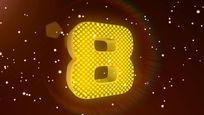 3d黄色粒子倒计时