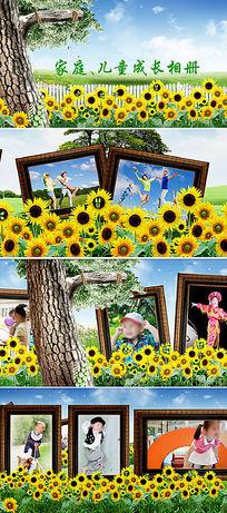 宝贝儿童相册片头蝶舞花丛影集开场AE模板