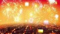 城市灯火喜庆节日背景视频