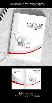 红色线条大气科技封面