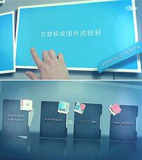 手动触摸屏企业宣传视频ae模板