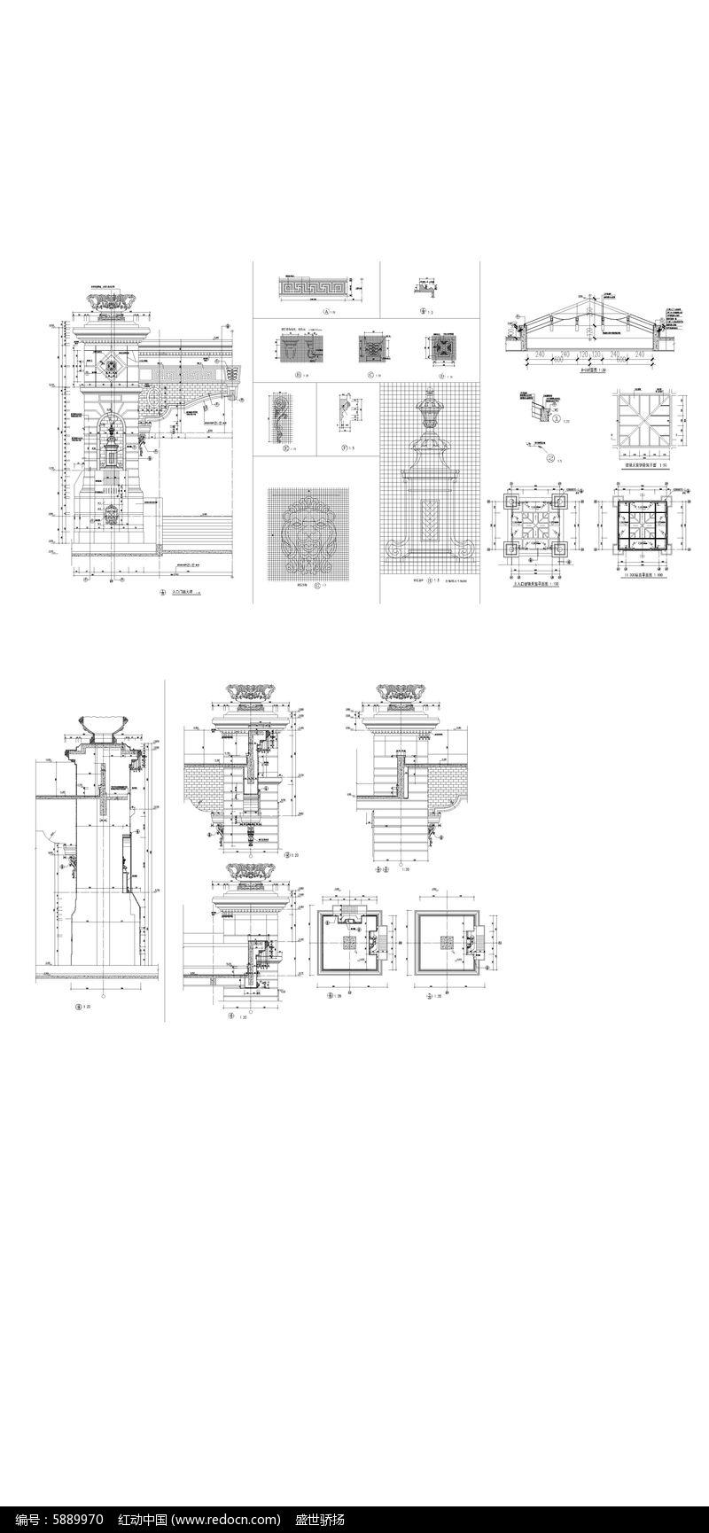 图纸大门建筑图纸披风酒店图片
