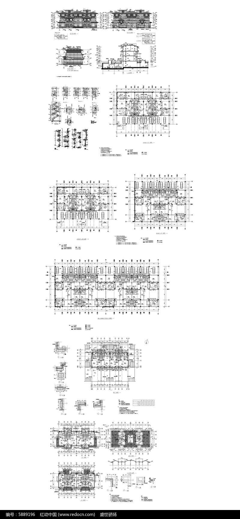 酒店图纸建筑图纸dwg素材下载_CAD建筑商业做图纸模漏机制图片