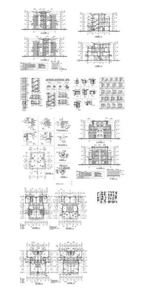 私家别墅建筑CAD施工图