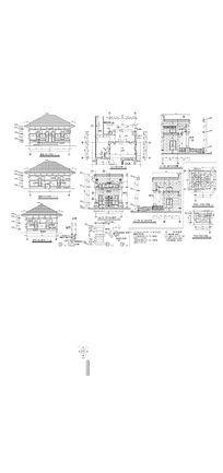 庭院建筑CAD图