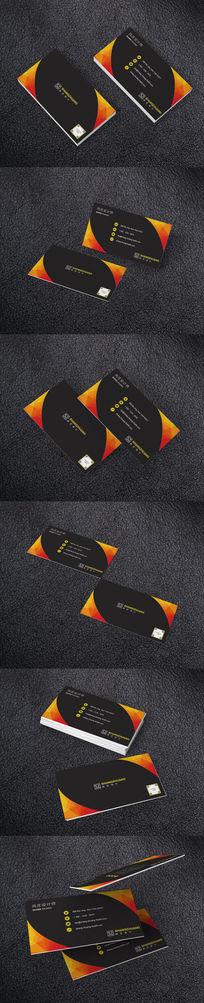橙色商业地产名片