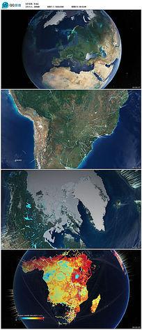 地球转动表面地图视频