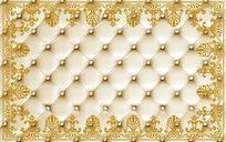 软包欧式花纹背景墙