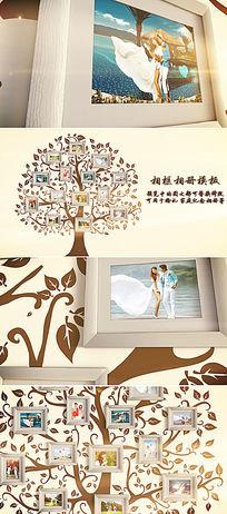浪漫唯美婚礼家庭通用相册模板