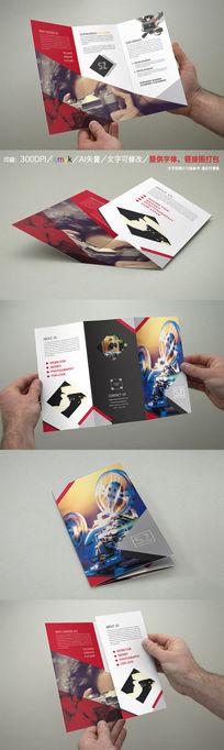 时尚摄影器材三折页