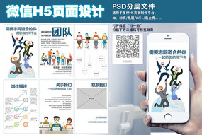 创意招聘H5页面设计