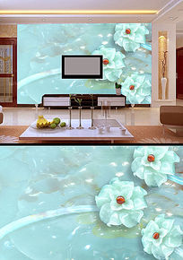 高清玉雕3D电视背景墙