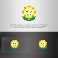 可爱花朵向日葵幼儿园logo
