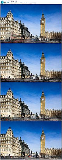 英国首都伦敦车流人流视频素材