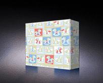 木马图案包装盒