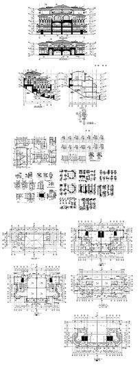 别墅建筑CAD外观效果图 dwg