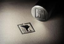 提案贴图钢印凹凸工艺logo展示