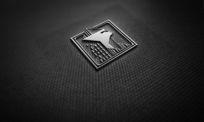 提案贴图金属立体logo展示效果图