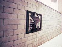 提案贴图立体标志展示墙面logo效果图 PSD