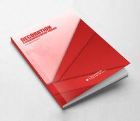 创意红色企业宣传画册封面设计