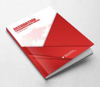 简约创意红色集团画册封面设计