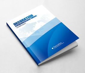 简约创意蓝色科技企业画册封面