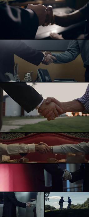 几种场合商务人士握手碰拳实拍