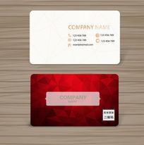 炫酷抽象红色立体背景名片设计