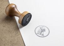 提案贴图印章标志展示logo效果图