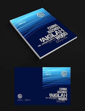 蓝色动感科技网络画册设计